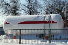 Paliwowy zbiornik ciekłego propanu benzynowa stacja Obraz Royalty Free