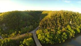 Palizadas del río de Kentucky almacen de metraje de vídeo