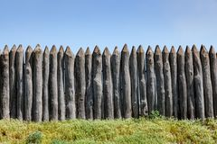 Palizzata antica di legno Fotografia Stock
