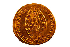 Paljett - Zecchino - ett guld- mynt av Venedig Royaltyfria Bilder