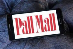 Pall mall cigarettes company logo. Logo of cigarettes company pall mall on samsung mobile royalty free stock image