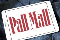 Pall mall cigarettes company logo. Logo of cigarettes company pall mall on samsung tablet stock photos