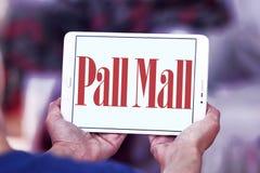 Pall mall cigarettes company logo. Logo of cigarettes company pall mall on samsung tablet stock photography