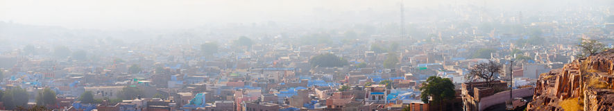 Pall of Smog Blankets the City of Jodhpur, India. Heavy pall of smoggy haze blankets the city of Jodhpur, a growing metropolis in the Indian State of Rajasthan royalty free stock photos