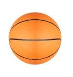 Palla arancio di pallacanestro isolata su bianco Immagine Stock