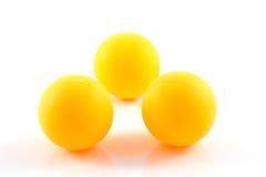 Palla arancio di ping-pong isolata Fotografia Stock Libera da Diritti