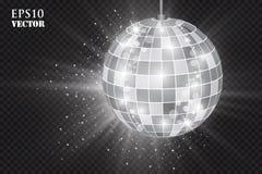 Palla astratta della discoteca dell'argento del fondo illustrazione vettoriale