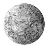 Palla in bianco e nero della discoteca Immagini Stock Libere da Diritti