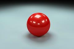 palla brillante rossa 3d Fotografia Stock