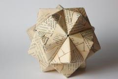 Palla cirillica di origami Immagine Stock