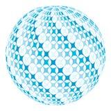 Palla con il turbinio diagonale Fotografie Stock Libere da Diritti