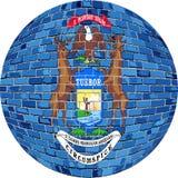Palla con la bandiera del Michigan - illustrazione illustrazione di stock