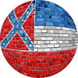 Palla con la bandiera del Mississippi - illustrazione Fotografia Stock