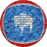 Palla con la bandiera del Wyoming - illustrazione Fotografie Stock Libere da Diritti
