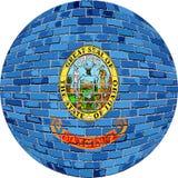 Palla con la bandiera dell'Idaho - illustrazione Fotografia Stock Libera da Diritti