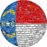 Palla con la bandiera della Nord Carolina royalty illustrazione gratis
