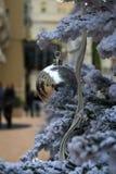Palla d'argento di festa Immagini Stock