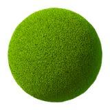 Palla 3D dell'erba Immagini Stock Libere da Diritti