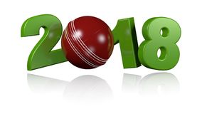 Palla da cricket 2018 nella rotazione infinita
