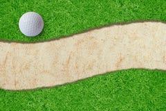 Palla da golf Fotografia Stock