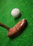 Palla da golf e club Fotografie Stock