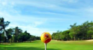 Palla da golf spagnola, golf in Spagna fotografia stock