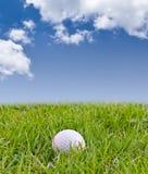 Palla da golf su erba alta Fotografia Stock