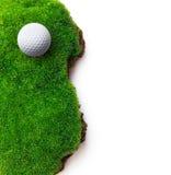 Palla da golf su erba verde Fotografia Stock Libera da Diritti