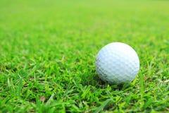 Palla da golf in tratto navigabile Fotografie Stock