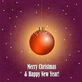 Palla decorativa di Natale Fotografia Stock