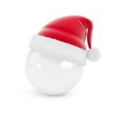 Palla del cappello di Santa su fondo bianco Immagini Stock Libere da Diritti