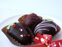 Palla del cioccolato del trio Immagini Stock