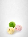 palla del gelato o del ripartitore sui precedenti Fotografia Stock