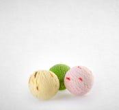 palla del gelato o del ripartitore sui precedenti Immagine Stock Libera da Diritti
