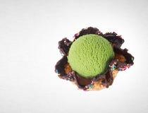 palla del gelato o del ripartitore sui precedenti Fotografia Stock Libera da Diritti