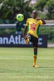 Palla del giocatore di Bafana Bafana Fotografia Stock