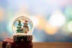 Palla del globo della neve fotografie stock