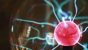 Palla 2 del plasma del primo piano video d archivio