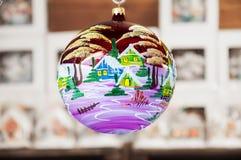 Palla dell'albero di Natale Fotografia Stock