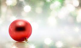 Palla dell'albero di Natale della decorazione Fotografia Stock