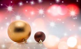 Palla dell'albero di Natale della decorazione Immagini Stock