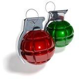 Palla dell'albero di Natale della granata a mano Fotografie Stock