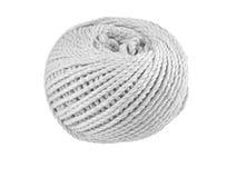 Palla della corda approssimativa isolata a bianco Fotografia Stock Libera da Diritti