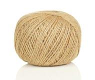 Palla della corda su bianco Fotografia Stock