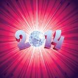 Palla 2014 della discoteca Immagini Stock Libere da Diritti