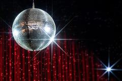 Palla della discoteca con le stelle Immagini Stock Libere da Diritti