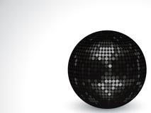 palla della discoteca del nero 3d Fotografie Stock