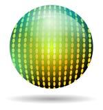 Palla della discoteca dell'arcobaleno isolata Fotografie Stock