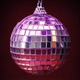 Palla della discoteca della decorazione dell'albero di Natale Fotografie Stock