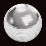 Palla della discoteca sul nero Fotografia Stock Libera da Diritti